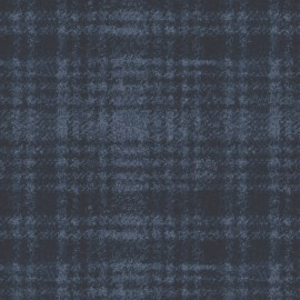 Woolies Flannel Maywood Studios Windowpane Plaids Tonal Dark Navy