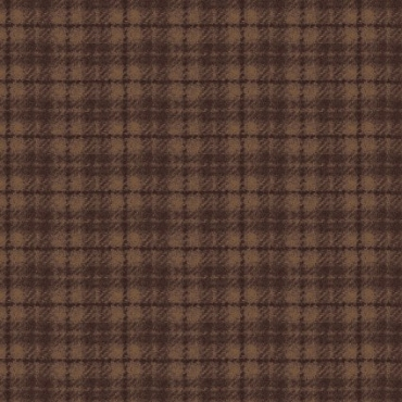 Woolies Flannel Maywood Studios Plaid Brown