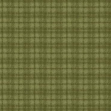 Woolies Flannel Maywood Studio Houndstooth green plaid