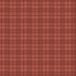 Woolies Flannel Maywood Studio Plaid Red Orange