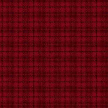 Woolies Flannel Maywood Studio Houndstooth plaid red