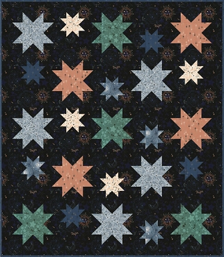 Quilt Kit Top Milky Way Robert Kaufman 53 x 61
