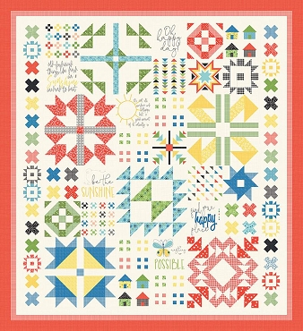 Quilt Kit Top Oh Happy Day Riley Blake 86 x 93 Reservation