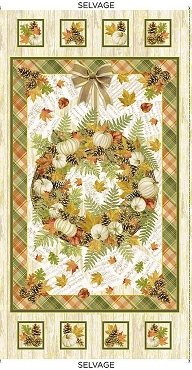 Autumn Symphony Panel Timeless Treasures Metallic Harvest 24 x 44