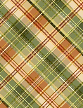 Autumn Symphony Timeless Treasures White Metallic Harvest Plaid