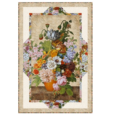 Quilt Kit Top Panel Frames Covert Garden Northcott 36 by 54
