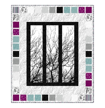 Quilt Kit Top Dark Room Northcott 61 x 72