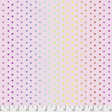 True Colors Free Spirit Tula Pink Hexy Rainbow -Shell