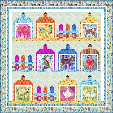 Quilt Kit Top Living Farm KG Art Studio P & B Textiles 86 square