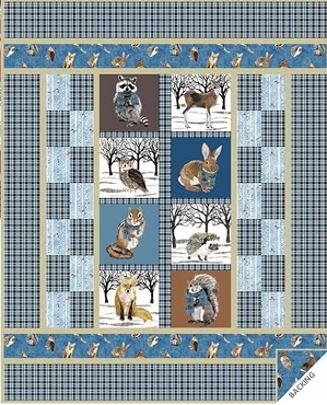 Quilt Kit Top Baby Dreams QT Fabrics Blue Option 39.5 x 49.5