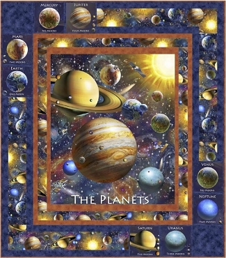 Quilt Kit Top Planetary Paths QT Fabrics  49 x 56
