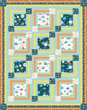 Quilt Kit Top Sea Buddies Quilting Treasures