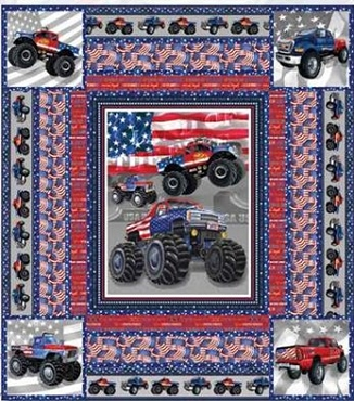 Quilt Kit Top American Truckers Henry Glass Fabrics 67 x 75