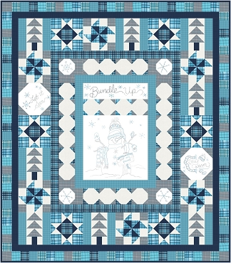 Quilt Kit Top Bundle Up Marcus Fabrics 71 x 81