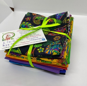 Fat Quarter Bundle Color Me Chameleon QT Fabrics 11 of 18 x 22