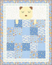 Quilt Kit Top Baby Dreams QT Fabrics Blue Option 39 x 49
