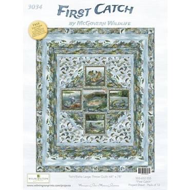 Quilt Kit Top First Catch McGovern Wildlife 64 x 79