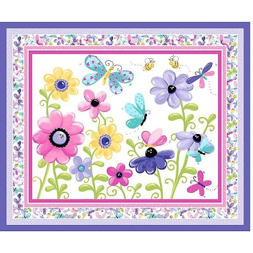 Susybee Flutter the Butterfly Play Mat Lilac 44 x 36