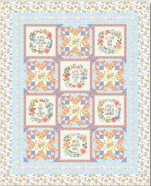 Quilt Top Kit Garden Inspirations Henry Glass & Co 52 by 64