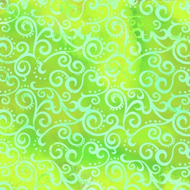Ombre Scroll QT Fabrics 108 Wide Lime