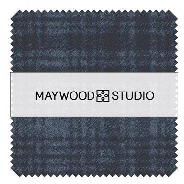 Woolies Flannel Maywood Studio Stormy Seas 5 inch Squares  42 pieces