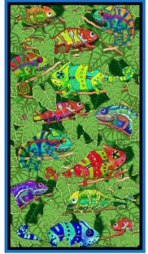 Color Me Chameleon QT Fabrics Panel 24 x 43