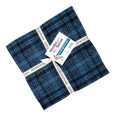 Stormy Seas Woolies Flannel 10 inch Squares  42 pieces