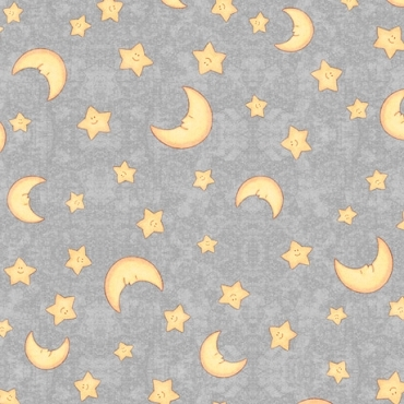 Lullaby  QT Fabrics Moon and Stars Dark Gray