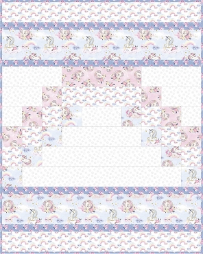 Quilt Kit  Complete 3 Wishes Unicorn Utopia  40.5 x  50.5