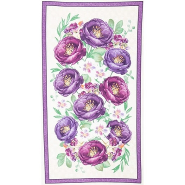 Violette Multi Large Quilt Panel Wilmington Prints 24 x 44