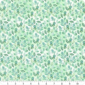 Violette Wilmington Prints Green Leaves Allover