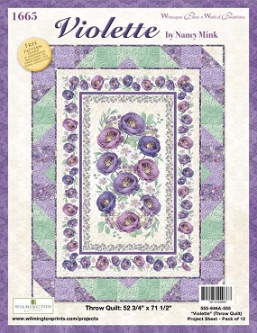 Quilt Kit Top Violette Wilmington Prints 60 x 79.5